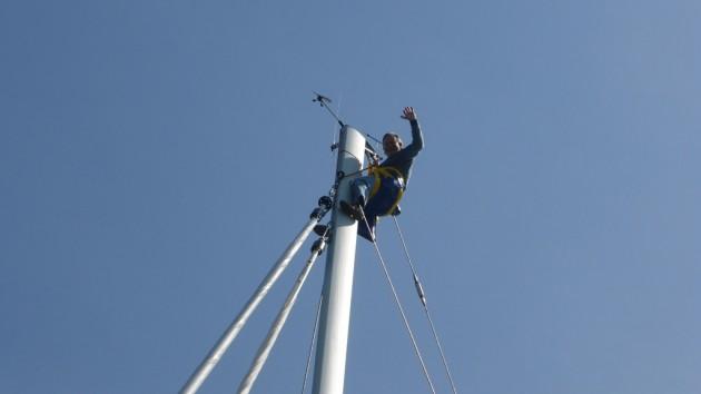Wolfgang im Mast