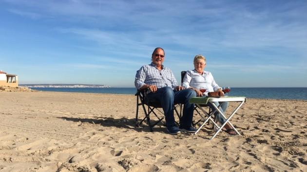 am Strand von el Pinet