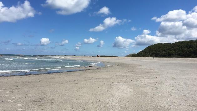 am Strand von Anholt