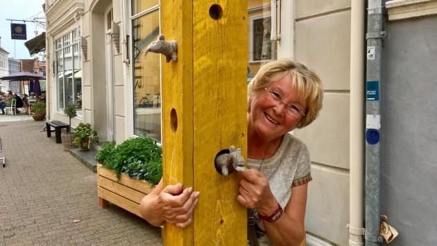 in der Fußgängerzone von Svendborg